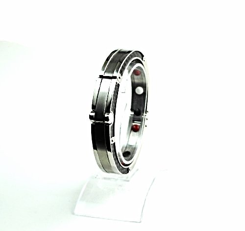QB46 Hatori 50 Shades of Grey Handcuff Carbon fiber Quantum Energy Bracelet