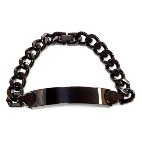QB51 Seto Dalimara Solid Stainless Steel Quantum Energy Bracelet Black