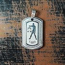 QP34 Libra Zodiac Quantum Pendant Dog Tag Stainless Steel