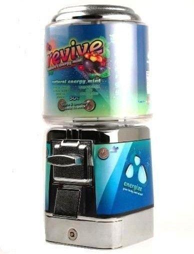 Brand New - Revive Energy Mint Machine Candy Machine Gumball Dispenser