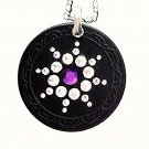 QP7 Quantum Necklace 5K Negative Ion Swarovski Amethyst February Birthday