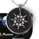 QP7 Quantum Necklace Energy 5K Negative Ion Swarovski Light Amethyst June