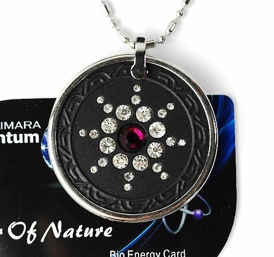 QP7 Quantum Necklace Energy 5K Negative Ion Swarovski Ruby July Birthday