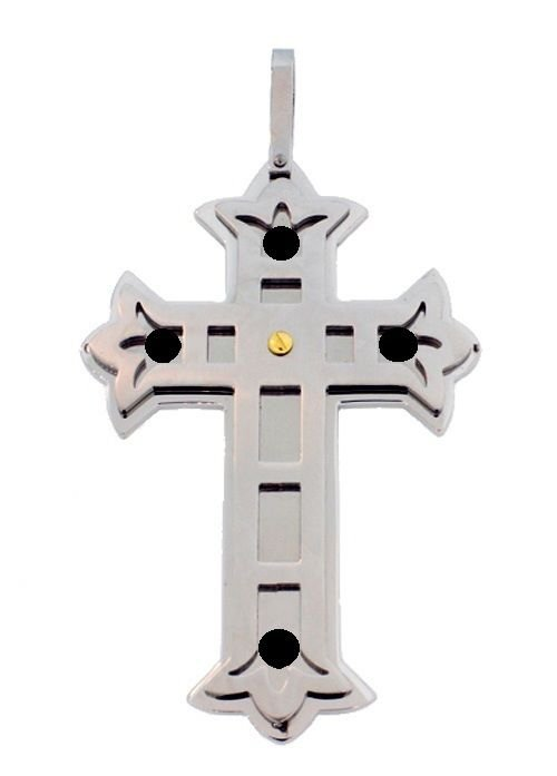 QC12 Quantum Cross Pendant Double Chain