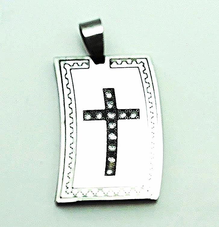 QC15 Dalimara Magnetic Dog Tag Cross Pendant
