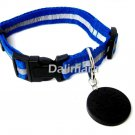 Dalimara Large Reflective Pet Collar & Nano Q Pendant - Blue