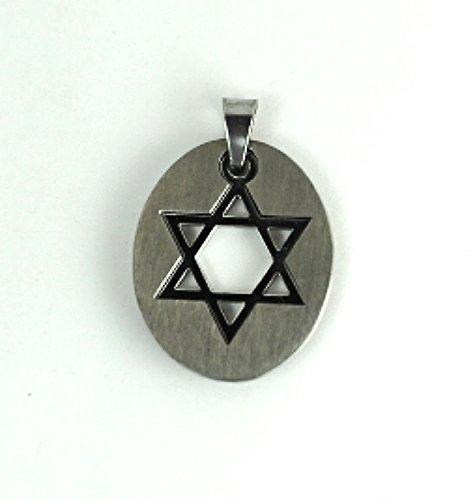 QP24 Quantum Star of David Judaica Pendant Necklace