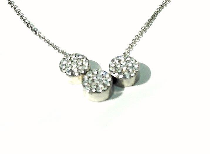 QP25 Quantum 3 Round Filigree Necklace