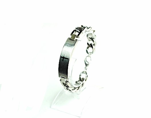 QB10 Dalimara Stainless Steel Quantum Bracelet 'Our Father' Prayer 3-Energy Chip