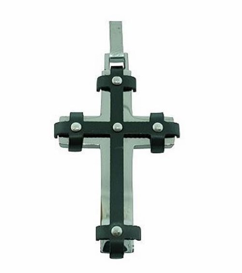 QC27 Dalimara Tribeca Cross Pendant Energized with Natural Minerals Black