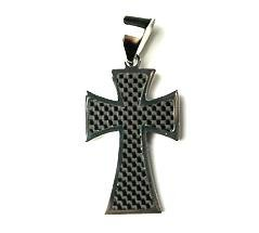 QC43 Dalimara Energized Cross Pendant with Carbon Fiber & Energy chips
