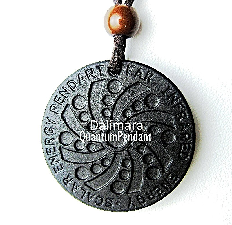 QP5 Dalimara Pendant Scalar Energy Engraved UFO Circle Face