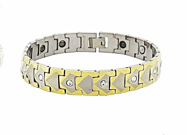QBT4 Dalimara Kai Gold Tungsten Energy Bracelet and Magnetic