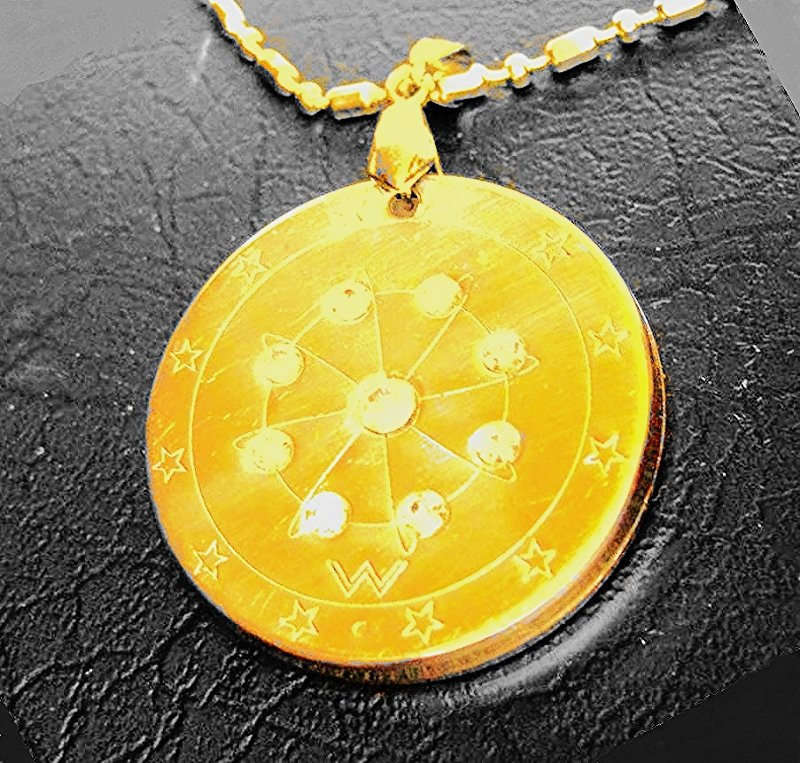 QP13 Dalimara Quantum Pendant 8-Point Crystal Star Energy with 2500 Neg Ions