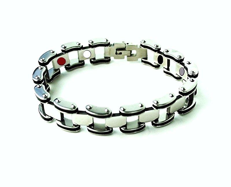 QB35 Dalimara Quantum Bracelet Stainless Steel 2-Tone Energy Band