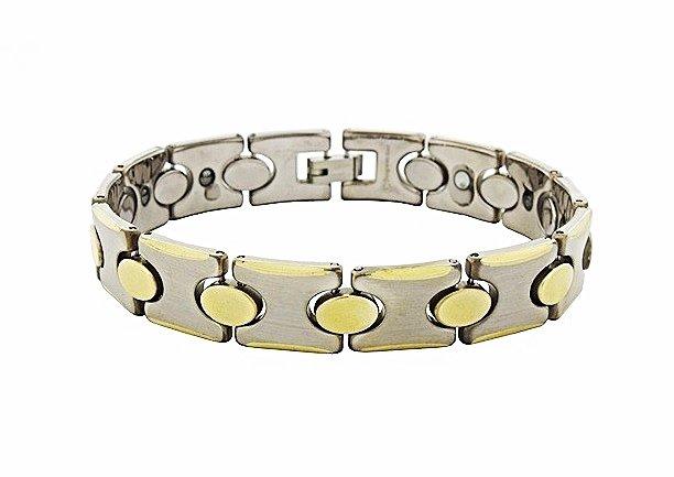 QBT2 Dalimara Hikari Gold Tungsten Energy Bracelet and Magnetic