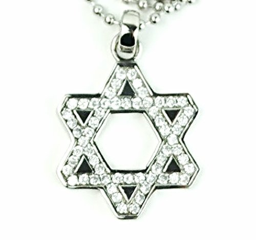 QP41 Marcasite Judaica Star of David Pendant Energy Quantum Necklace