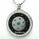 QP12 Dalimara Quantum Pendant Blue Sapphire Crystal