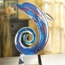 Art-glass Dolphin Sculpture