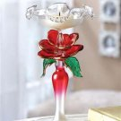 Glass Rose Candleholder