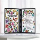 Simulated Stained Glass Friendship Plaque