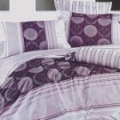 4-pc Modern Purple Cotton Duvet Cover