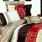 4-pc Comfortable Brown Floral Cotton Duvet Cover