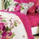 4-pc Red And White Flower Cotton Duvet Cover