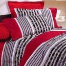 4-pc Gorgeous Red Floral Cotton Bedroom Duvet Cover