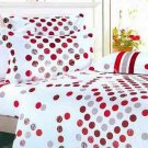 4-pc Comfortable White Floral Cotton Duvet Cover