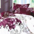 4-pc Beautiful Purple Cotton Floral Reactive Print Duvet Cover