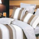 4-pc Beautiful Brown And White Cotton Floral Reactive Print Duvet Cover