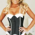 White And Black Cotton Corset And Panty Set