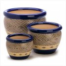 Cobalt Planter Trio (Set of 3)