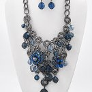 Hematite Tone Finish / Montana Blue Acrylics / Lead&nickel Compliant