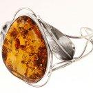 sterling 925. Silver, Cognac Amber Bangle