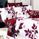 4-pc White Cotton Duvet Cover Bedding Set