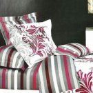 Classic Cotton 4-pcs Bedding Set Gray Stripe
