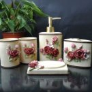 Beige Rose Environment Friendly Resin Bathroom Sets
