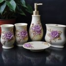 Exquisite White Daisy Environment Friendly Resin Bathroom Sets