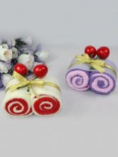Double Swiss Roll Cotton Towel Gift Box