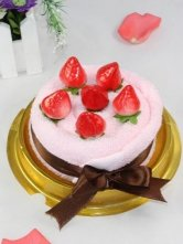 Cute Strawberry Cotton Quality Towel Gift Box