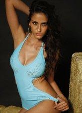 Blue Connected 82% Nylon 18% Spandex Bikini Sets