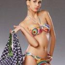 Attractive Colorful Halter Two-Piece 82% Nylon 18% Spandex Bikini Swimsuit