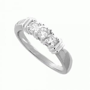 .50ct Diamond Three Stone Ring 14kt Solid WG