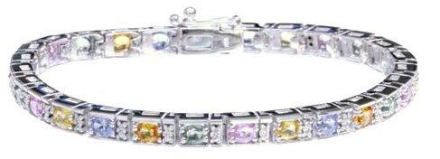 6.25ct Sapphire & Diamond Bracelet