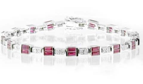 5.53ct Sapphire & Diamond Bracelet