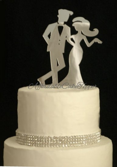 Chic Bride and Groom Cake Topper