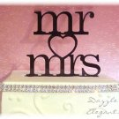 Mr & Mrs Heart Wedding Cake Topper