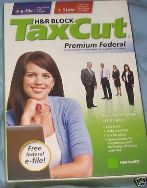 HR Block Taxcut Premium Federal state SEALED box 2008
